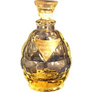 Vintage quilted glass 2 oz  bottle Vigny Golliwog Eau de Cologne Perfume  10% full