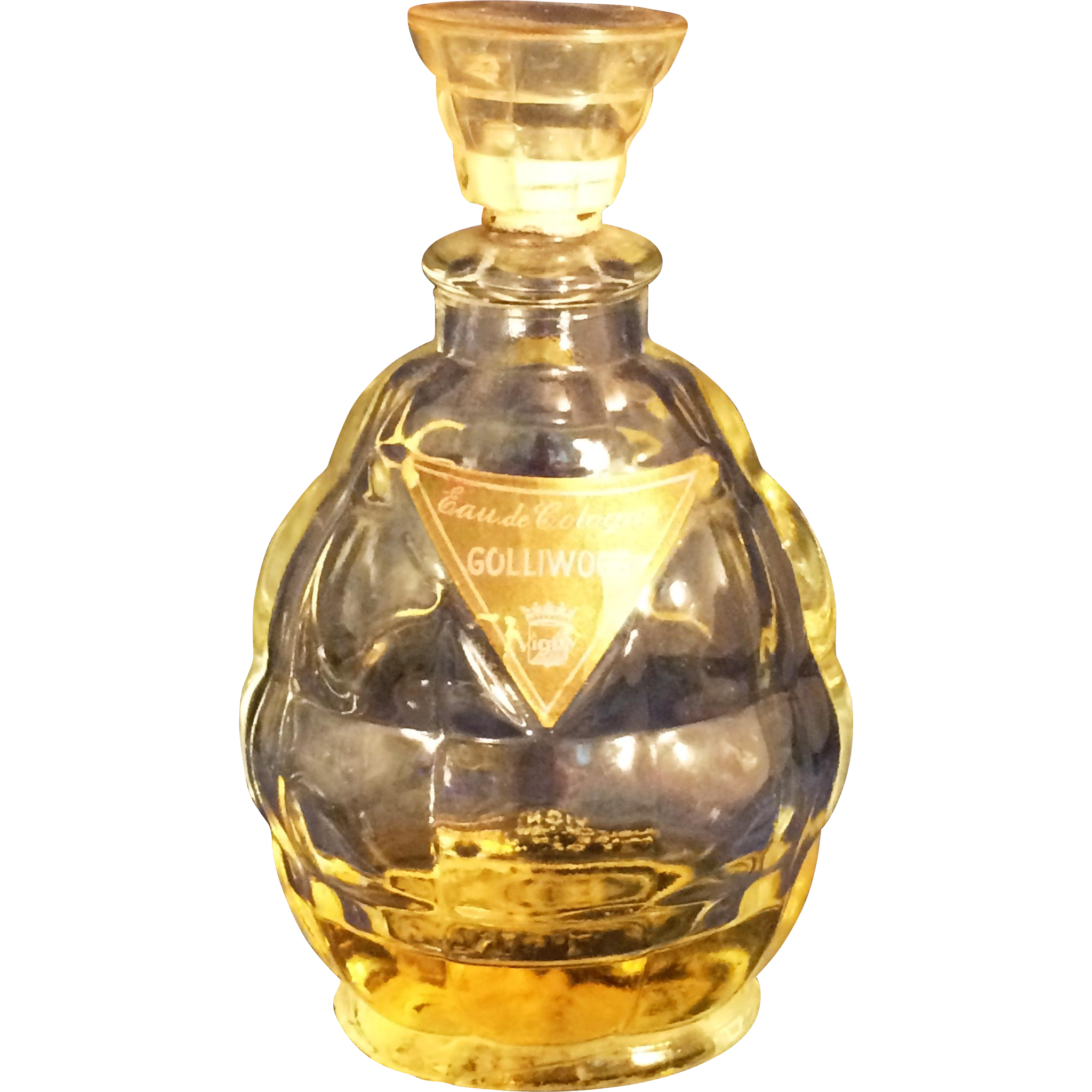 Vigny Golliwog  Perfume quilted glass 2 oz  bottle