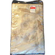 Shanghai China Ivory Raw Silk hand embroidered Tablecloth Napkin set New in bag