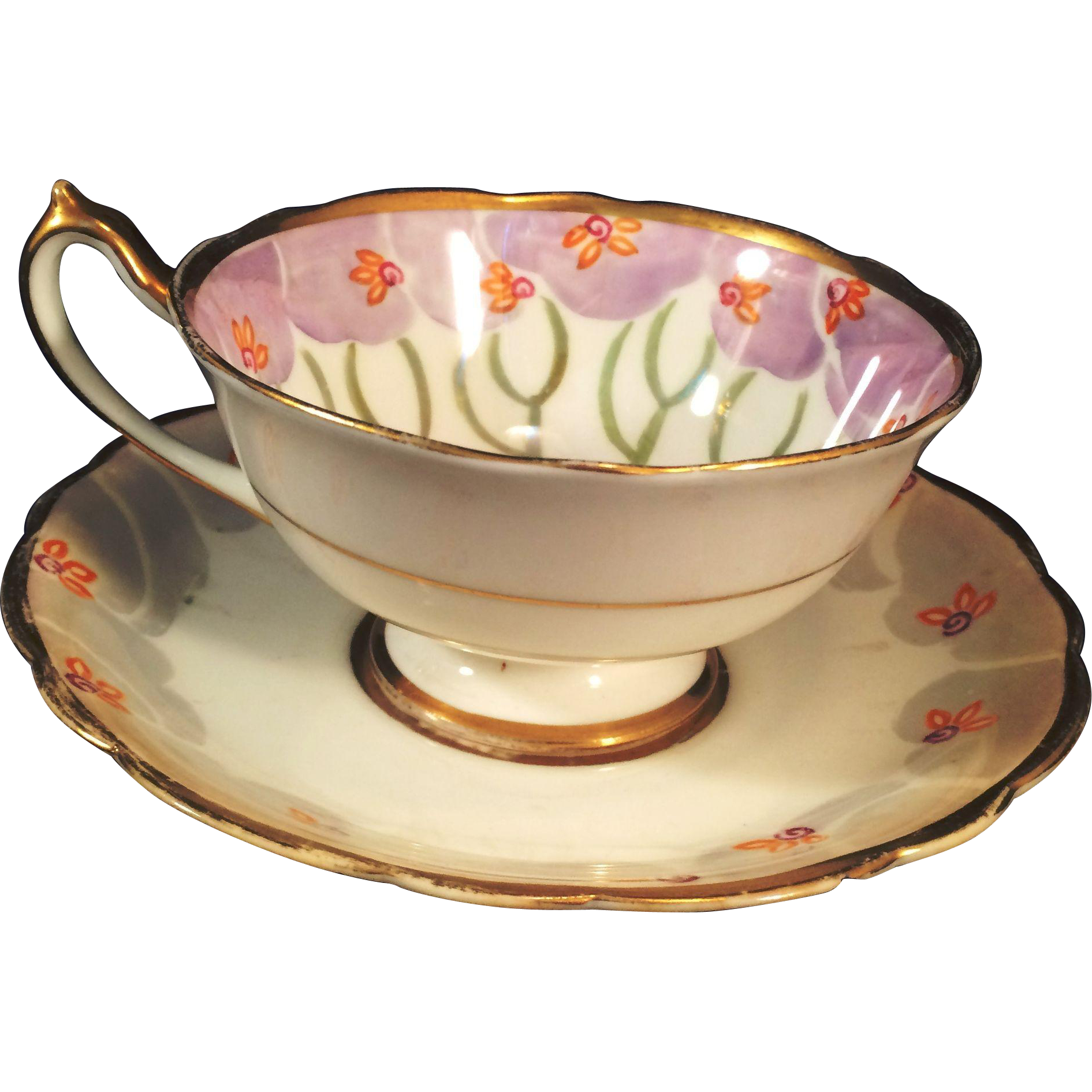 Tea Party Paragon England fine china  Cup and Saucer