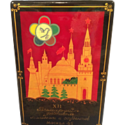 Russian Lacquer commemorative box MIB