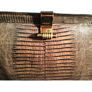 Vintage Brown Snakeskin Ladies Purse Handbag