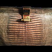 Vintage Brown Snakeskin Ladies Purse Handbag