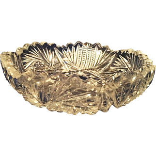 ABP American Brilliant Cut Glass nappie candy bowl