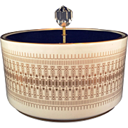 Hutschenreuther Bavaria covered Dresser Candy box cobalt lid Gold design