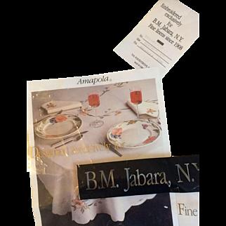 B. M Jabara Villeroy & Boch Amapola oblong oval  66 x 124 Tablecloth New in package
