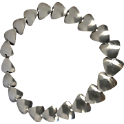 Couture N. E. From Modernist Danish Sterling Disc Necklace.