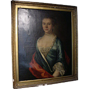 18th Century English Elizabeth Scott Painting Unsigned Hogarth Workshop