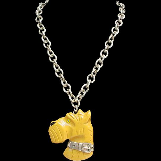 Item ID: 208: Yellow Bakelite Head In Shop Backroom