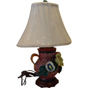 Antique Applied Flower Table Lamp