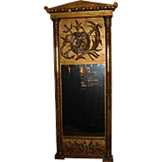 Antique Empire Tabernacle Trumeau Mirror