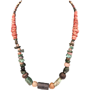 Incan Burial Bead Necklace from Chiclayo Peru