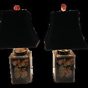 Pair of Victorian Tea Caddies Table Lamps