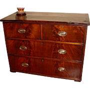 Late 19th Century Original Sheraton Style Chest of Drawers