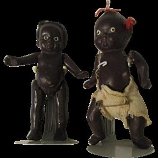 Two Black Dolls Japan