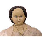 Early Greiner Papier Mache Doll 1858