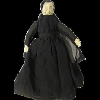 "10"" Cloth Widow Lady"