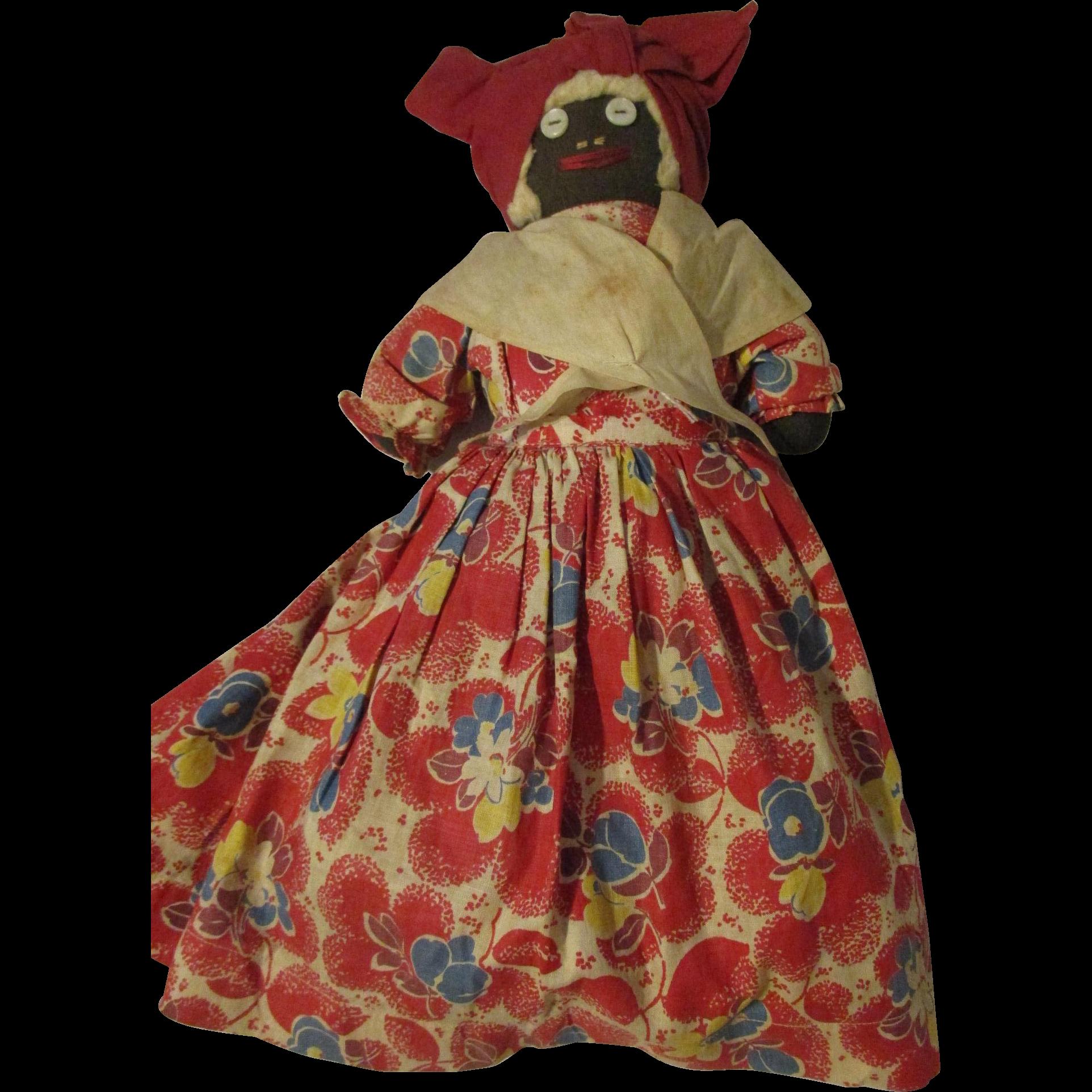 "13.5 "" Black Cotton Stuffed Doll"