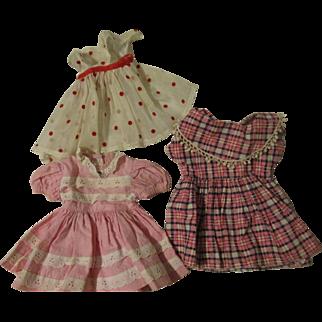 3 Dresses for Dolls 1950's