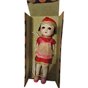 "6.25"" Chinese Stone Bisque Doll Sleep Eyes"