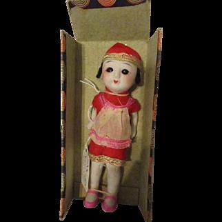 "6.25"" Chinese Stone Bisque Doll Sleep Eyes"
