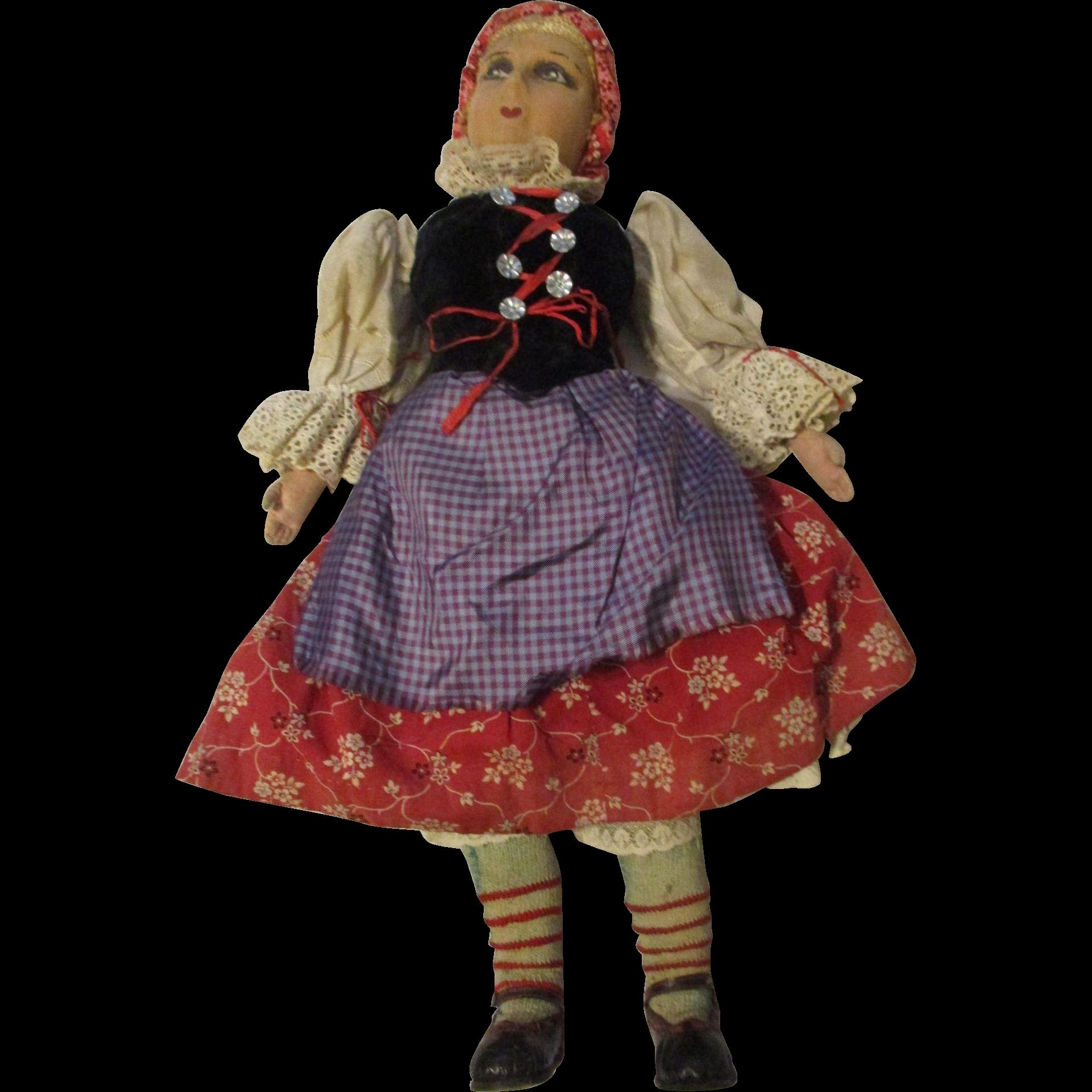"""24"""" Cloth Ethnic Lady All Original"""