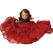Nancy Ann Spanish Molded Socks Storybook Doll All Original