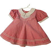"Cotton Dress 14"" for larger doll"