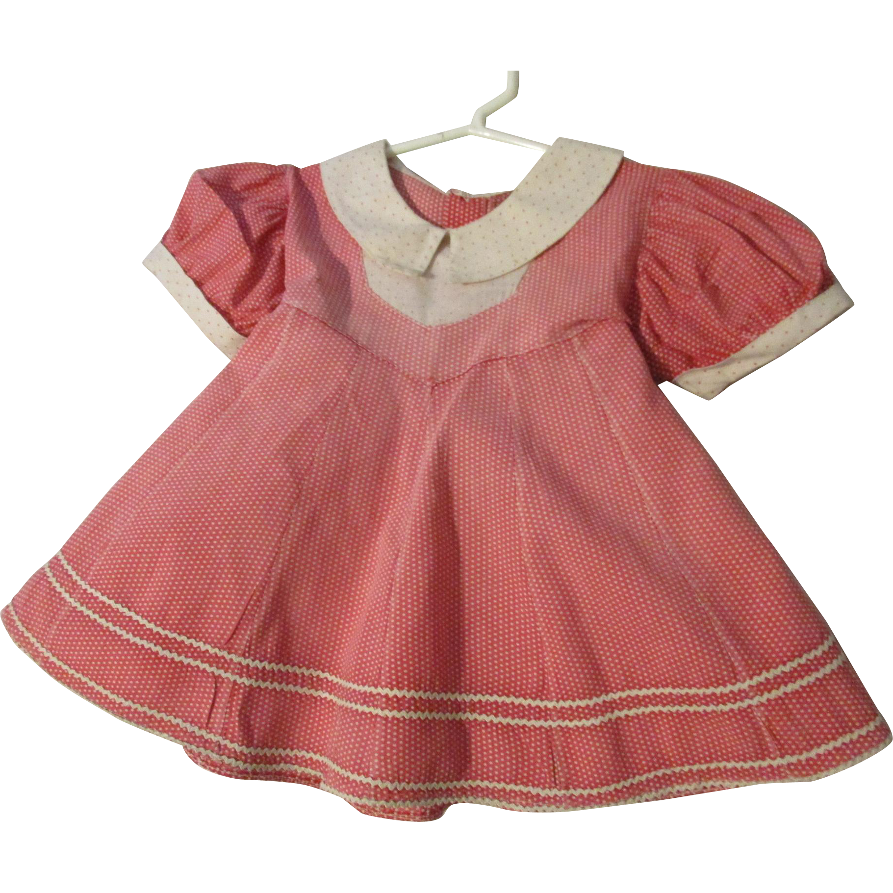 """Cotton Dress 14"""" for larger doll"""