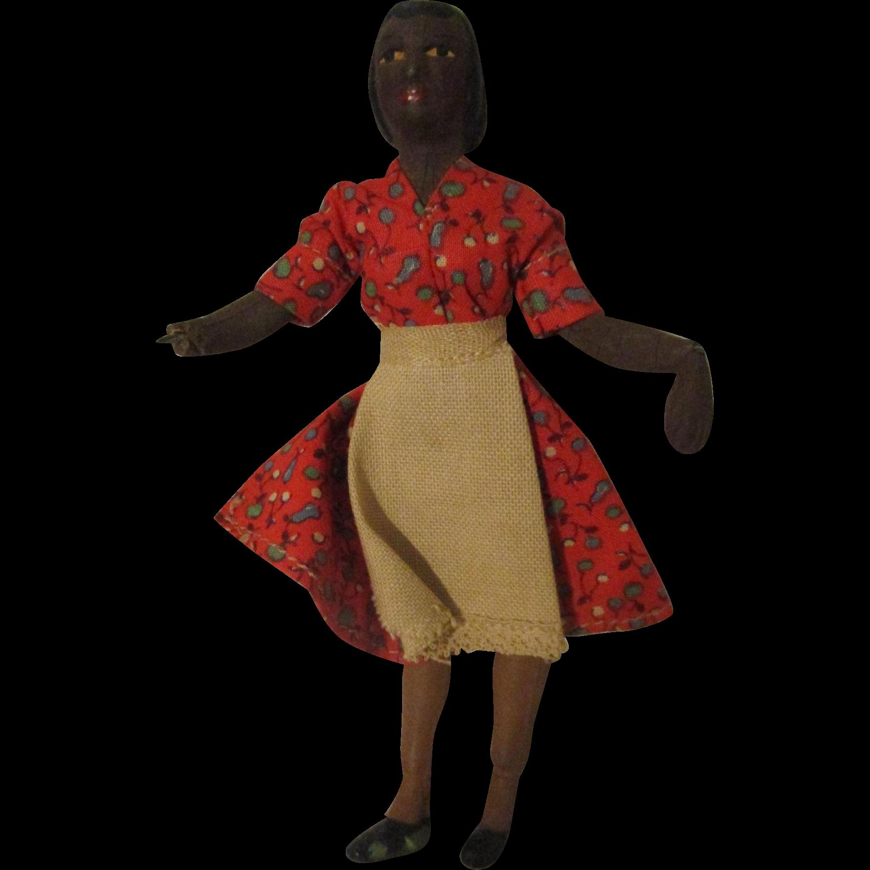 Black Doll House Doll