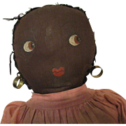 Black Folk Art Doll Homemade