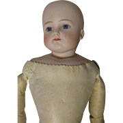"23"" Solid Dome Turned Head Bisque Doll 632  X H"