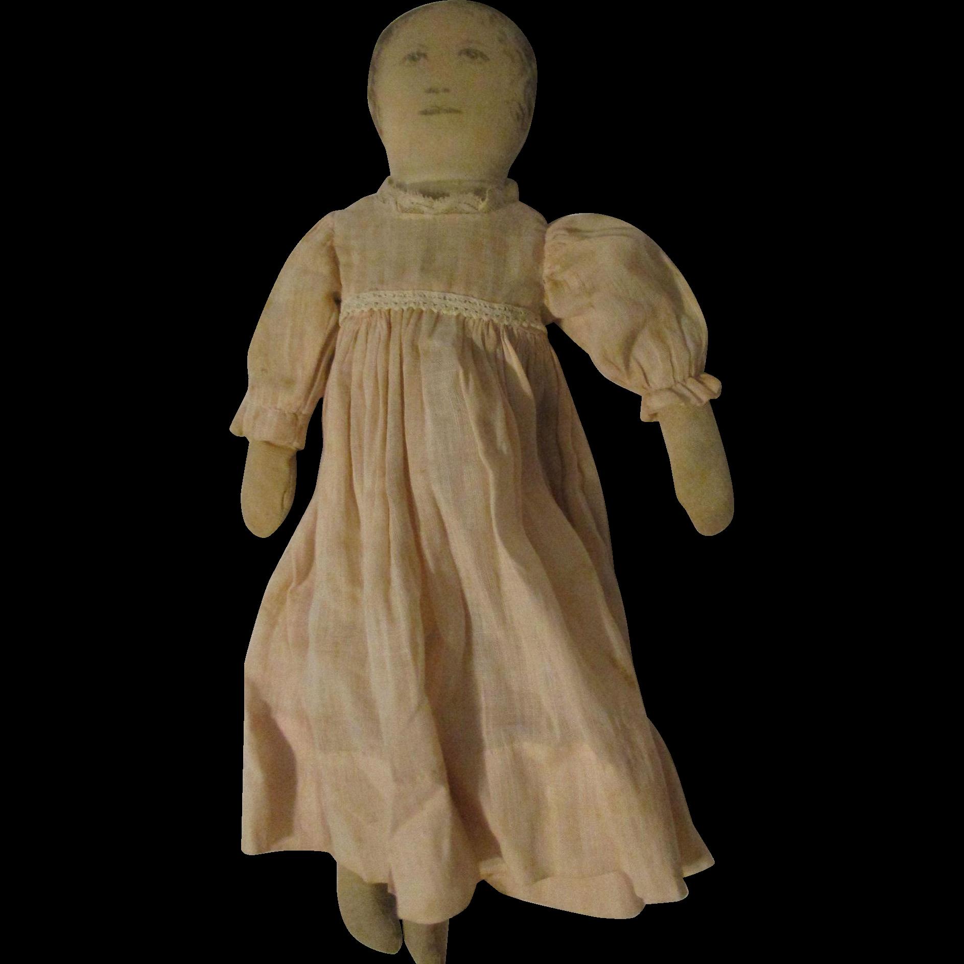 "15"" Cloth Printed Face Doll 15-0G"
