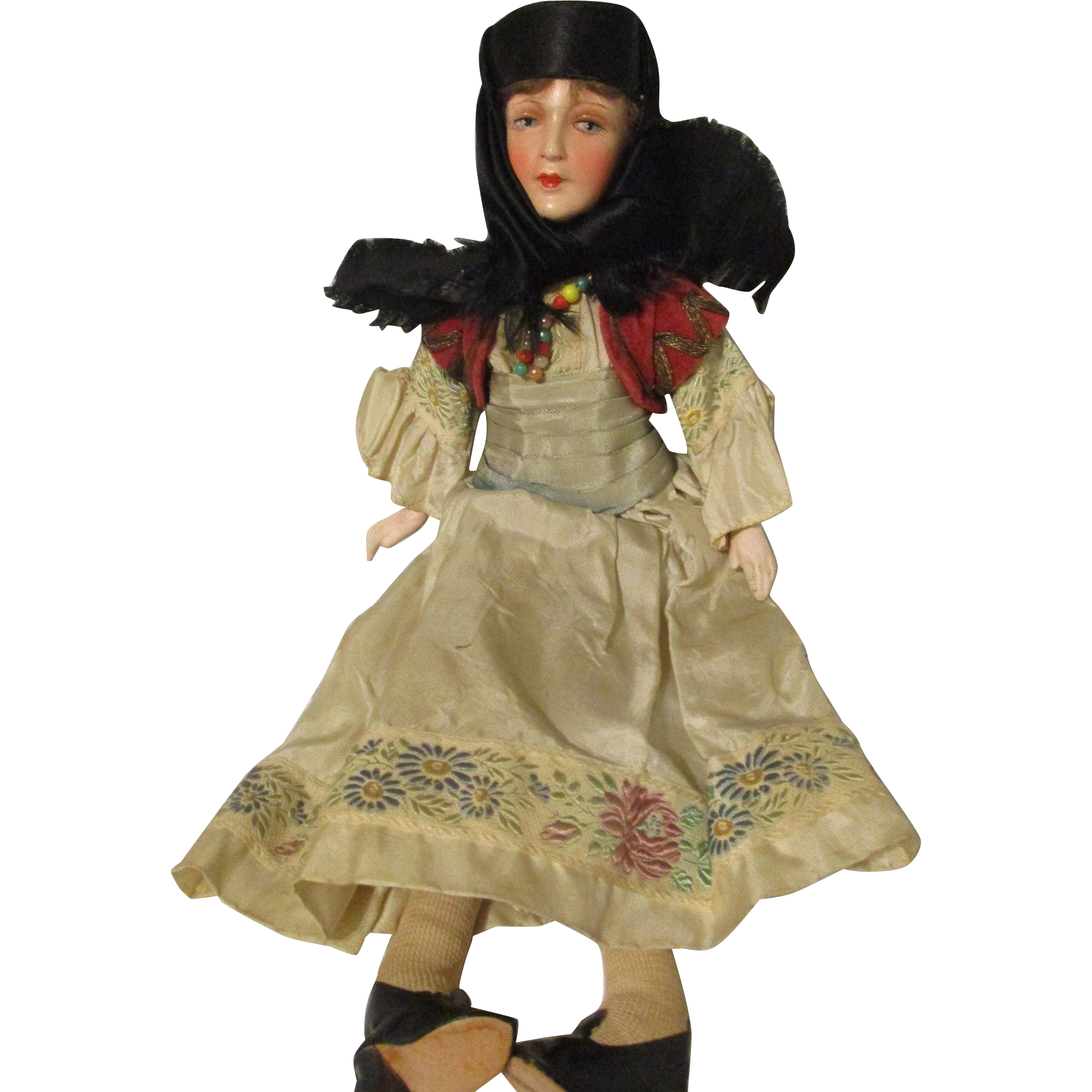 """13"""" German Small Bed Doll Ethnic Outfit"""