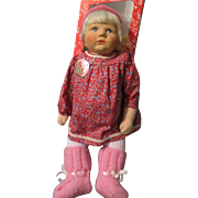 "21"" Du Mein Kathe Kruse Baby Germany Boxed 1985"