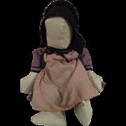 Amish Oil Cloth Doll All Original