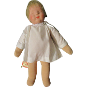 "10"" Kathe Kruse Sleeping Baby Tagged"