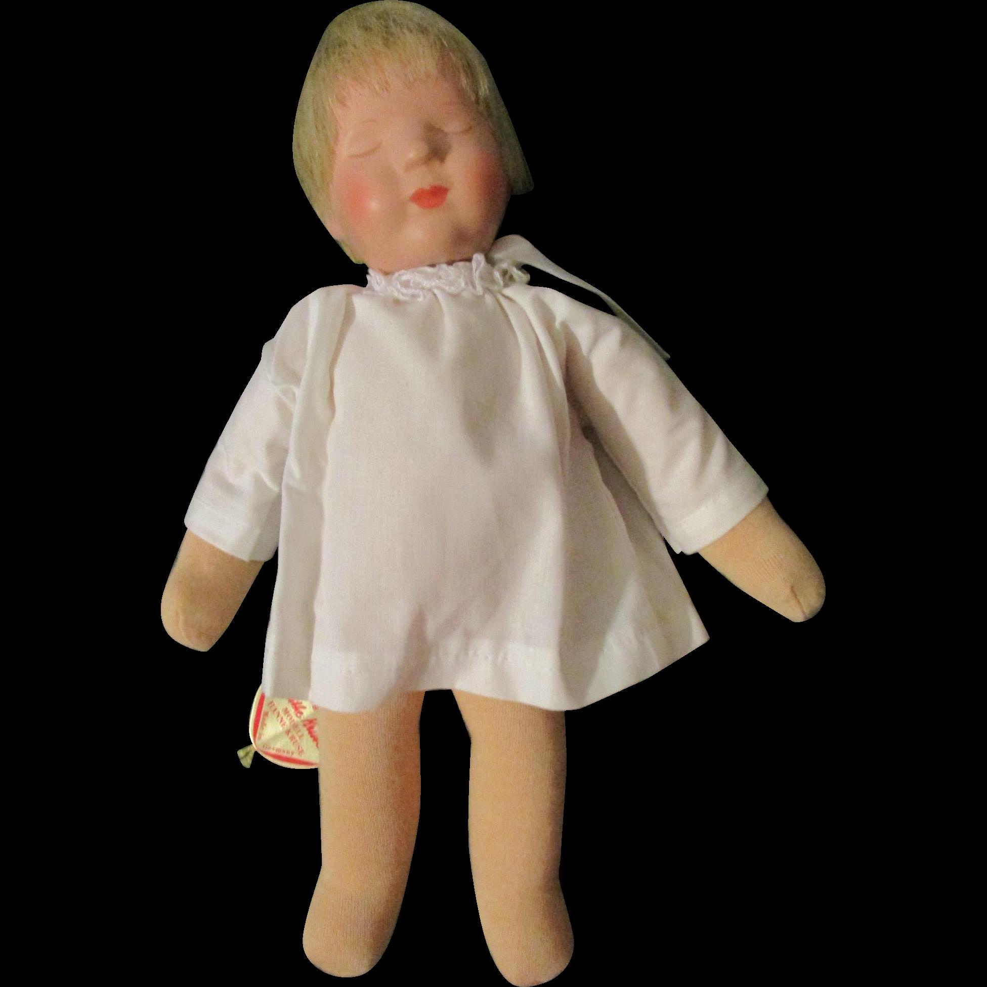 "10"" Kathe Kruse Sleeping Baby Tagged"