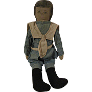 Cloth Boy Doll Bran Stuffed