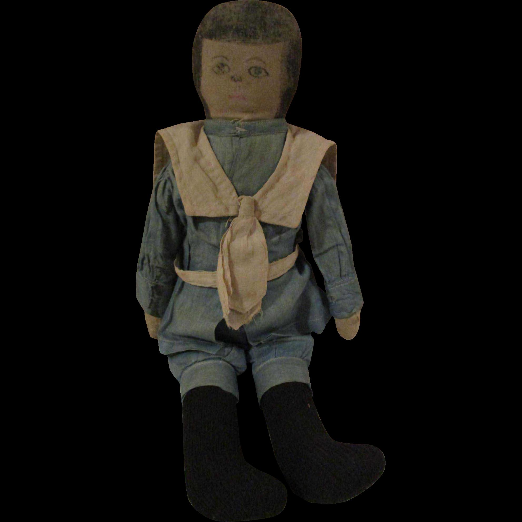 Cloth Boy Doll Bran Stuffed
