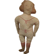 French Printed Cloth Doll