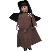 Nun Doll in Black and Brown