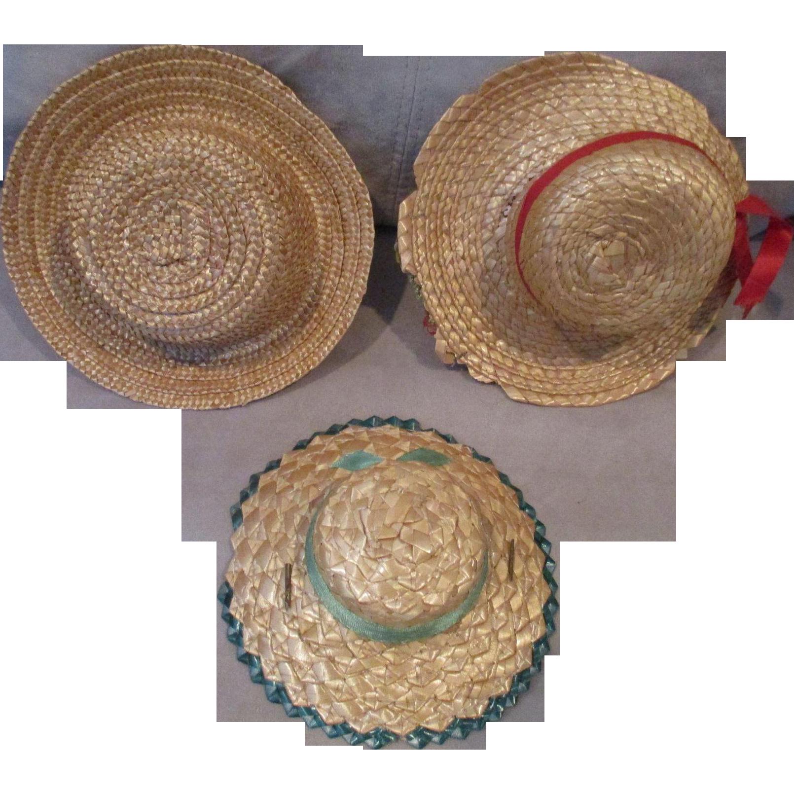 Three Straw Hats
