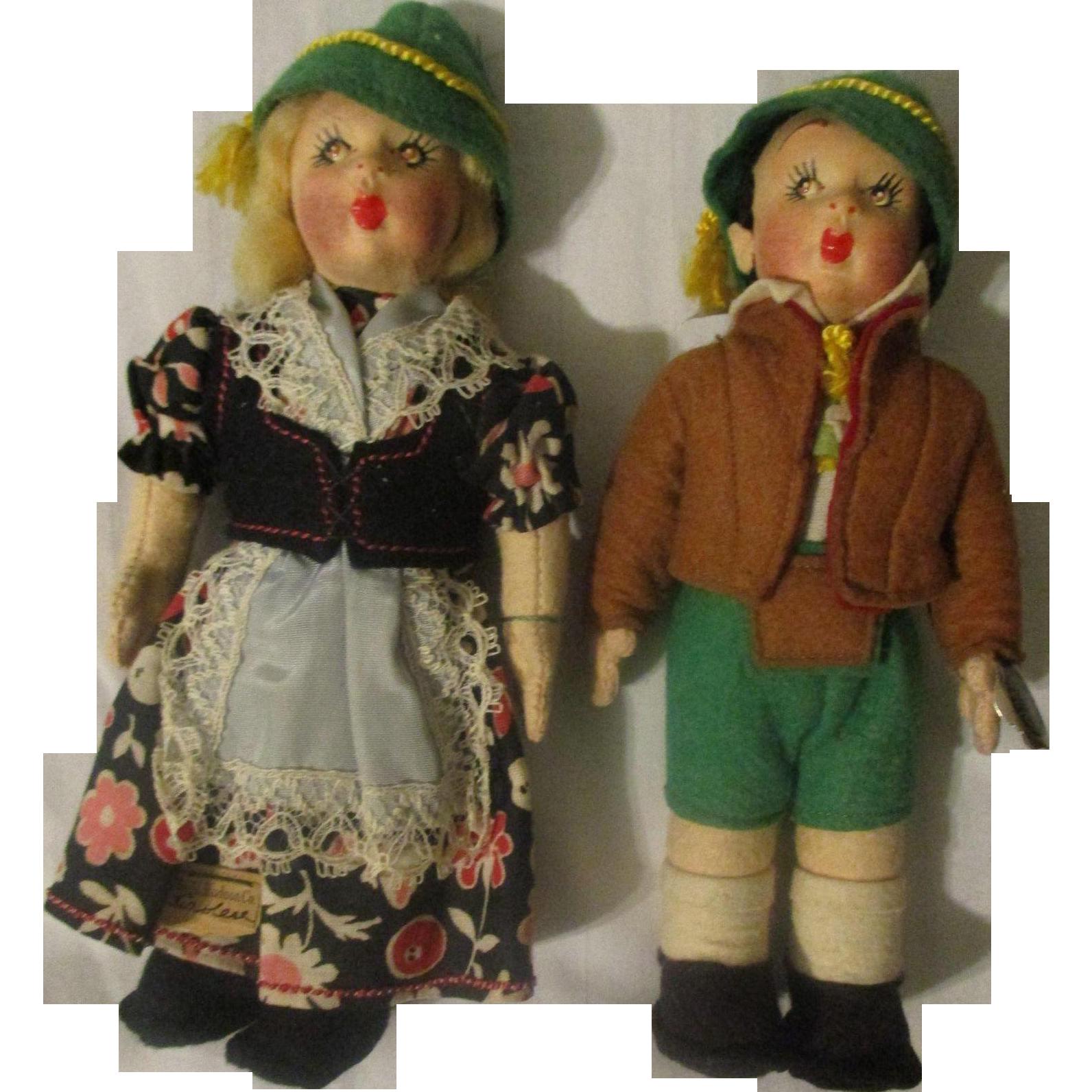 Italian Fetish Pair Cloth Dolls