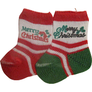 Doll Merry Christmas Stockings Miniature