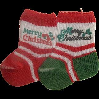 Doll Merry Christmas Stockings Miniature