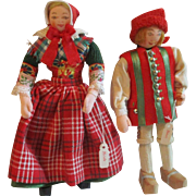 """Denmark Hedebo Cloth Pair Original Clothing with Hedebo tag 6.5"""" Tall"""