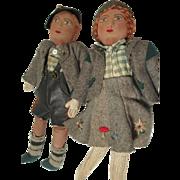 Stockinette Pair Cloth Dolls