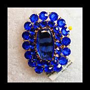 1930s-1940s Cobalt Blue Glass Clip