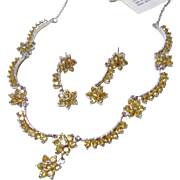 Citrine and Sterling Necklace and Earrings